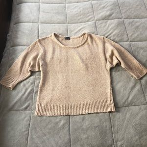 Lightweight sweater urban outfitters tan champagne